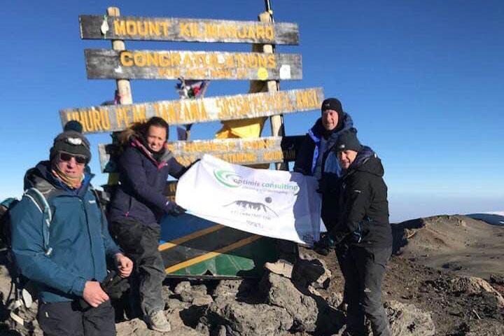 Managing Director of Optimis Consulting climbs Mount Kilimanjaro
